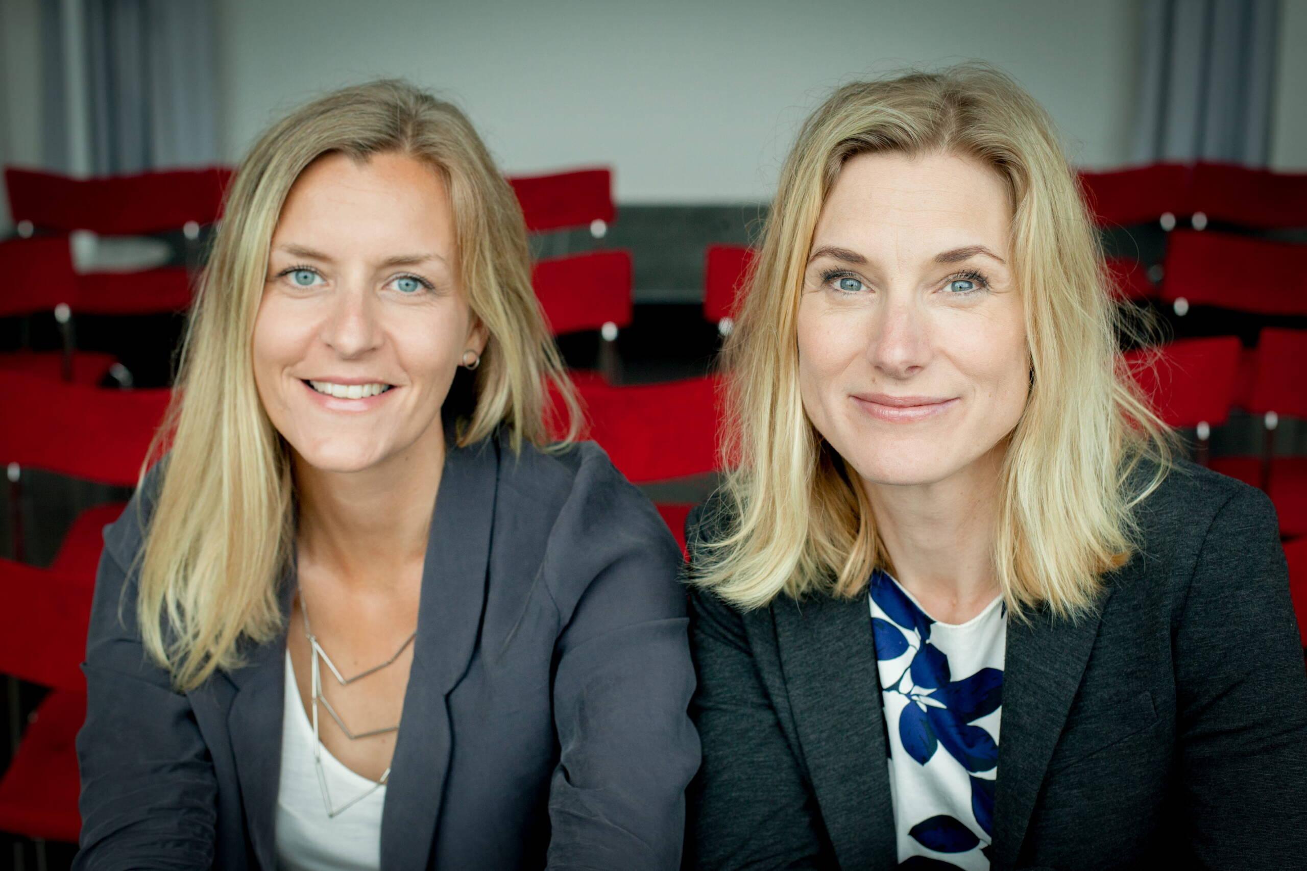 Kajsa Lönn Rhodin och Maria Lalouni